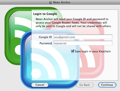 Google Reader Import - Enter Google ID