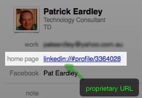 LinkedIn Contact URL