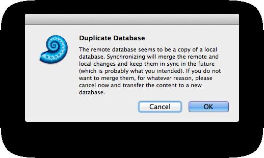 Devon Think Sync Duplicate Database