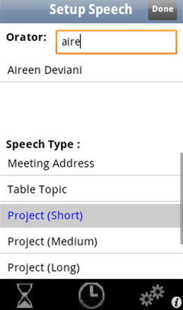 Speech Type Setup