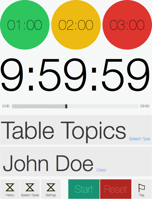 Speech Timer Redesign iPad portrait