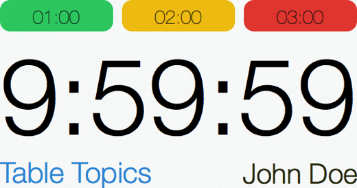 Speech Timer redesign iPhone 5 landscape