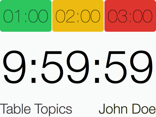 Speech Timer redesign projector 1024x768