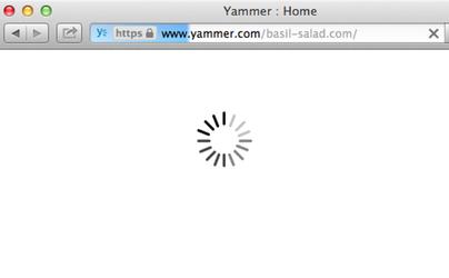 Yammer Loading Screen