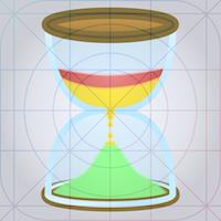 Speech timer 2 Icon rev 7 grid overlay