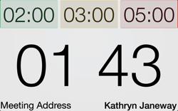 Speech timer projection