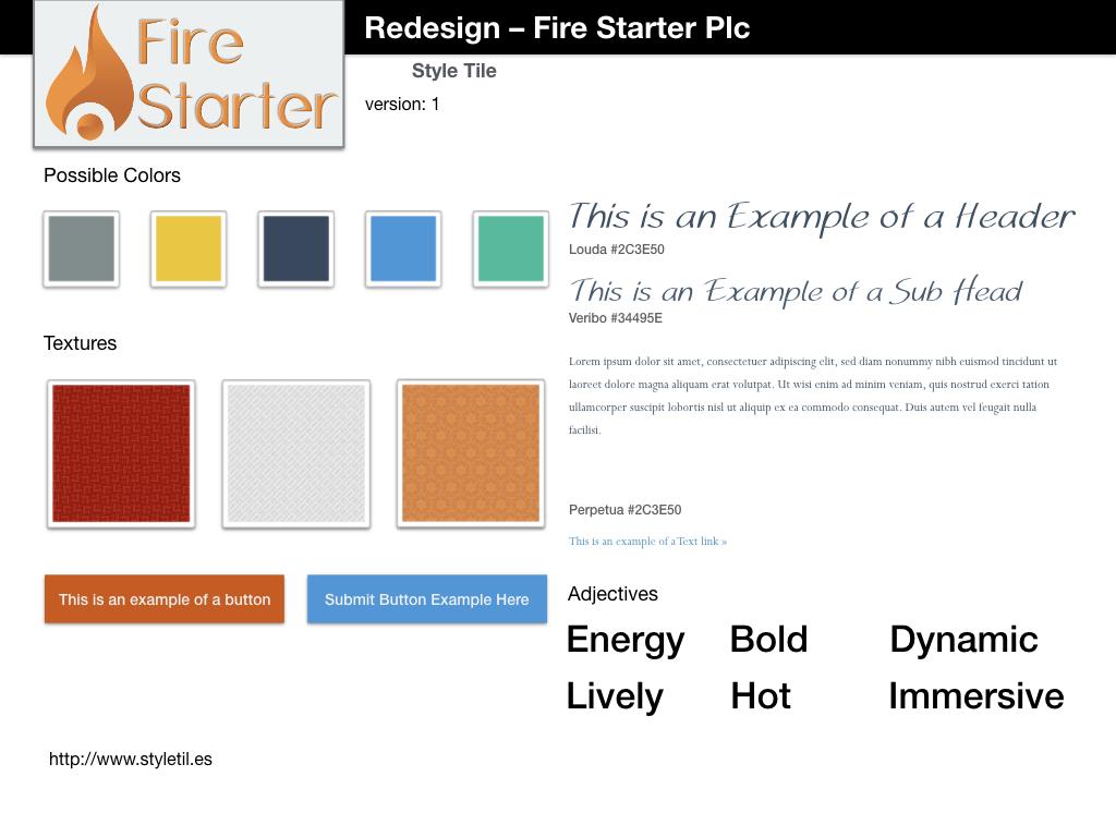Web Design mood board template