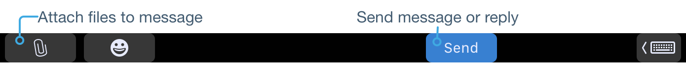 Compose and Reply touch bar buttons