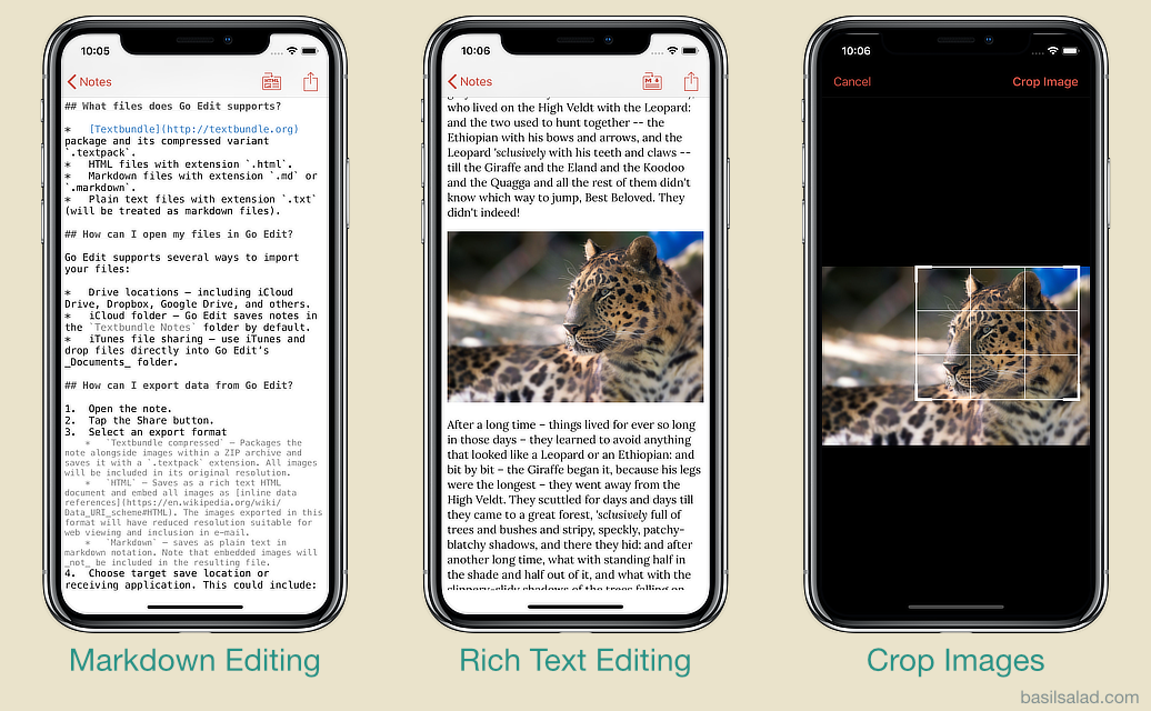 Go Edit with iPhone X – Markdown, HTML, and Cropping