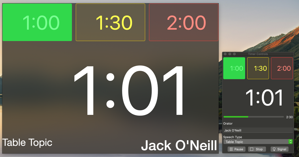 Speech timer dark mode 2x