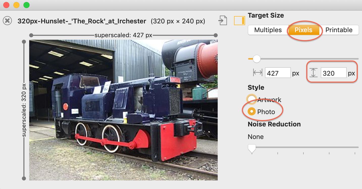 Increase JPEG Resolution